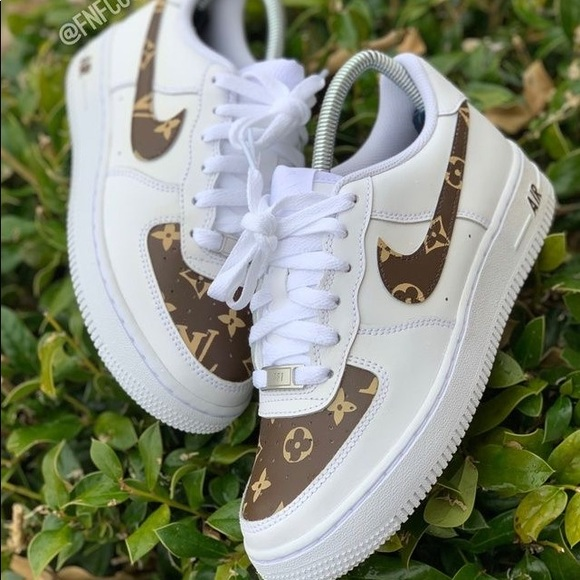 Custom painted nikes Louis Vuitton